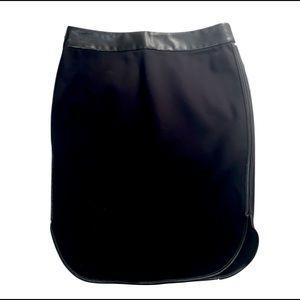 Loft Sleek Black Pencil Skirt